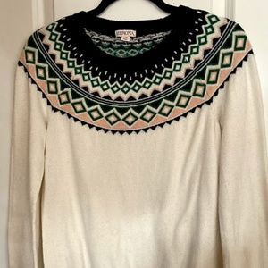 Merona Fair Isle Sweater Size Large (EUC)